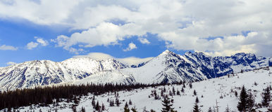 Mountains panorama landscape winter Tatras Royalty Free Stock Photography