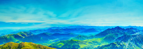 Mountains panorama Royalty Free Stock Photo