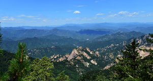 Mountains. Panorama of the Mountains in summer Royalty Free Stock Image