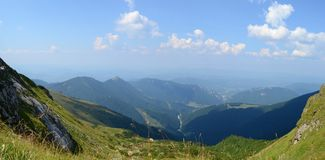 Mountains panorama. Panorama of Carpathian mountains, Slovakia Stock Photo