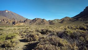 Mountains panorama of Teide vulcano area stock footage