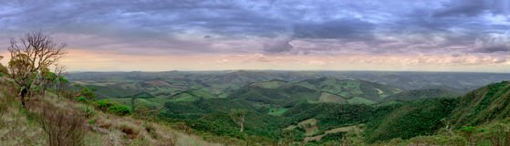 Mountains panorama view at the Ibitipoca National Park Royalty Free Stock Image