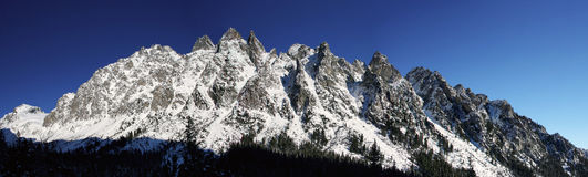 Mountains panorama in winter Stock Photography