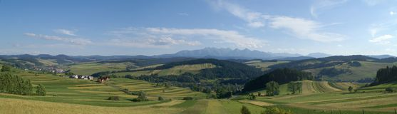 Mountains panoramic Royalty Free Stock Images