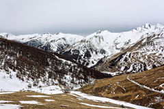 Mountains. A panoramic landscape of mountains stock photo