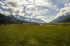 Mountains and pastures Royalty Free Stock Photos