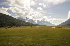 Mountains and pastures Stock Photography