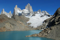 Mountains of Patagonia, Mount Fitz Roy stock photography