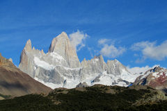 Mountains of Patagonia, Mount Fitz Roy stock photo