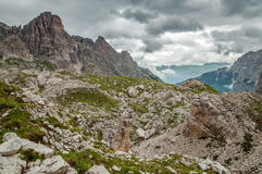 Mountains, Paternkofel, Italy Royalty Free Stock Image