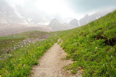 Mountains path Royalty Free Stock Photography