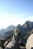 Mountains and path in China. Steps and pathway on a wall in the mountains of China Royalty Free Stock Image