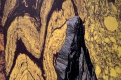 Mountains patterns on a big rock Stock Photos