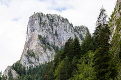 The mountains peak of the Altar of Bicaz Canyon. Romania Stock Image