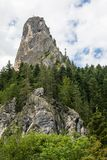The mountains peak of the Altar of Bicaz Canyon. Romania Royalty Free Stock Photography