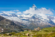 Mountains peak. Matterhorn Royalty Free Stock Images