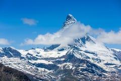 Mountains peak. Matterhorn Stock Image