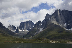 Mountains. Peak in south greenland Royalty Free Stock Images