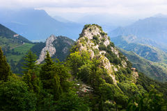 Mountains peak in summer. Pyrenees Stock Image