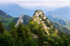Mountains peak in summer. Pyrenees Stock Image