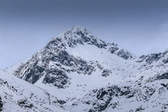 Mountains peaks covered by snow Royalty Free Stock Photography
