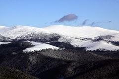 Mountains peaks covered in snow royalty free stock image