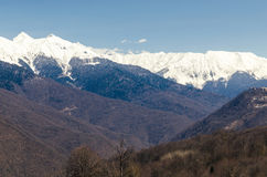 Mountains peaks. Mountains with snow-capped peaks stock photos