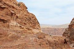 Mountains of Petra, in Jordan Royalty Free Stock Images