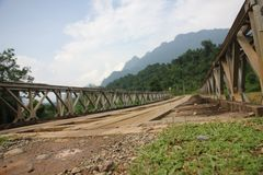 Mountains. Photo image with mountains and bridge Royalty Free Stock Photos