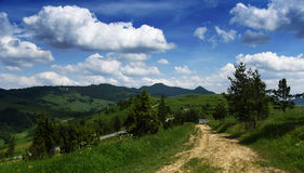 Mountains Pieniny in Slovakia and Poland Stock Photos