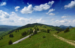 Mountains Pieniny in Slovakia and Poland Royalty Free Stock Photography