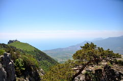 Mountains, plains in Crimea Stock Images