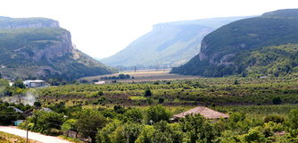 Mountains, plains in the Crimea Stock Photos