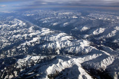 Mountains from the plane Stock Image
