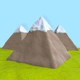 Mountains of plasticine or clay Royalty Free Stock Images