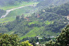 Mountains of Pokhara valley Stock Image