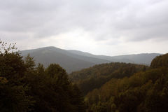 Mountains in Poland. Mountains Beskidy in Poland (Europe Royalty Free Stock Photography
