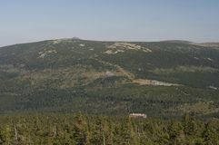 Mountains in Poland - Karkonosze. Beautiful mountains in Poland during summer Royalty Free Stock Images