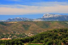 Mountains of provence Royalty Free Stock Photo