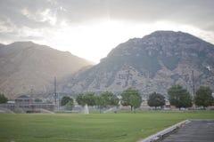 Mountains in provo utah usa stock photo
