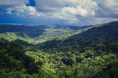 Mountains in Puerto Rico. View from el Yunque National Forest Stock Photography