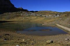 Mountains in Pyrenees. Tramacastilla de Tena Royalty Free Stock Photos