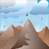 In mountains it is raining Stock Images