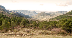 Mountains range. Grazalema mountain range , is located in the Spanish province of Cadiz, It´s a  fall day Royalty Free Stock Image