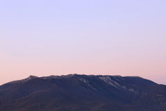 Mountains range at morning Royalty Free Stock Photos