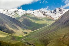 Mountains range with snowy peaks, Tien Shan Stock Photography