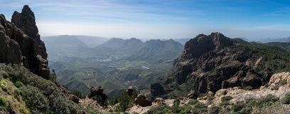 Mountains range, view from Pico de las Nieves, Gran Canaria, Spain Stock Image