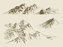 Mountains ranges set Royalty Free Stock Photos