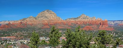 Mountains and red rocks of Sedona, AR stock photos