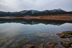 Mountains reflected. Royalty Free Stock Photo